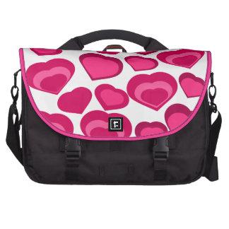 amor, corações cor-de-rosa mochila para laptop