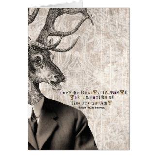 Amor da arte de Digitas dos cervos do vintage da Cartão
