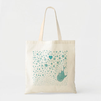 Amor da bolha dos peixes bolsa para compras