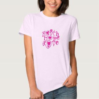 amor da esperança da fé camiseta