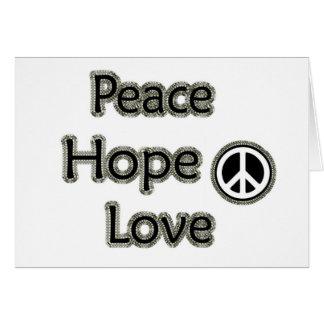 amor da esperança da paz cartão