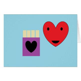 Amor da fritada do francês cartão