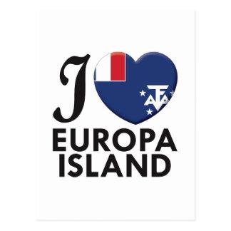 Amor da ilha de Europa Cartão Postal