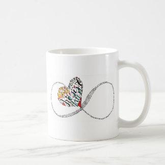 Amor da infinidade caneca de café