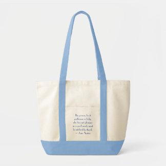 Amor da leitura bolsa tote