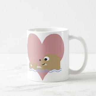 Amor da lontra caneca de café