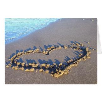 Amor da praia cartões