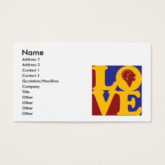 Amor da psicologia cartão de visitas