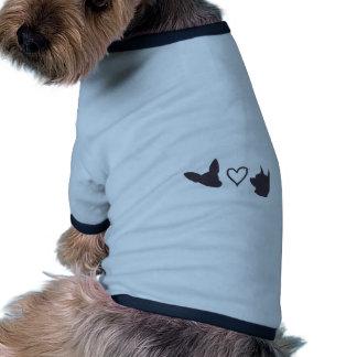 Amor de filhote de cachorro camisas para cães