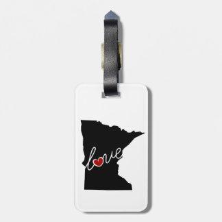 Amor de Minnesota!  Presentes para amantes do Etiquetas Para Bagagem