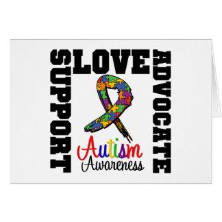 Amor do advogado do apoio do autismo cartao