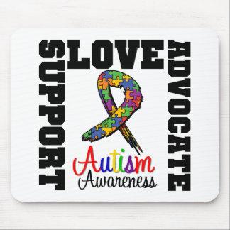 Amor do advogado do apoio do autismo mousepads