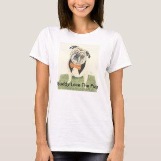Amor do amigo o Pug Camiseta