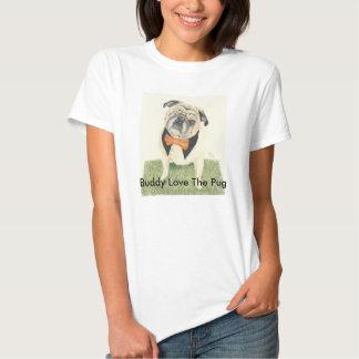 Amor do amigo o Pug Camisetas