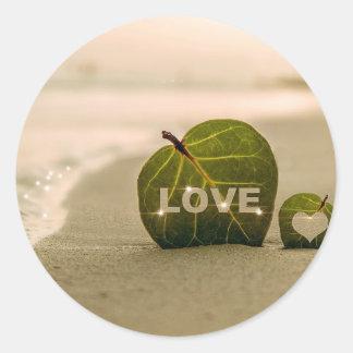 Amor do casamento adesivo