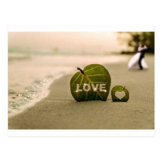 Amor do casamento cartão postal