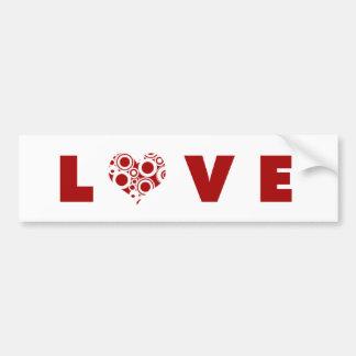 Amor do coração adesivo para carro