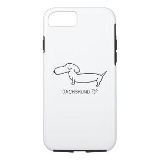 Amor do Dachshund Capa iPhone 8/7