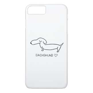 Amor do Dachshund Capa iPhone 8 Plus/7 Plus