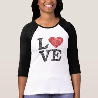 AMOR do dia dos namorados da rua com coração Tshirts