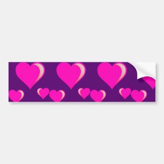 Amor do dia dos namorados dos corações cor-de-rosa adesivo para carro