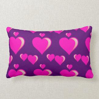 Amor do dia dos namorados dos corações cor-de-rosa travesseiros de decoração