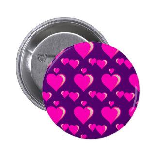 Amor do dia dos namorados dos corações cor-de-rosa botons
