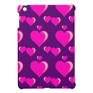 Amor do dia dos namorados dos corações cor-de-rosa iPad mini capa