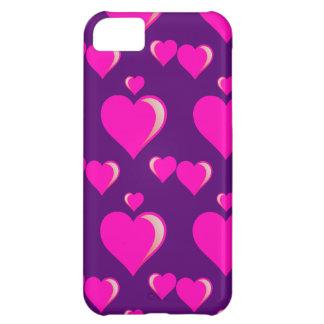 Amor do dia dos namorados dos corações cor-de-rosa capas para iphone5C
