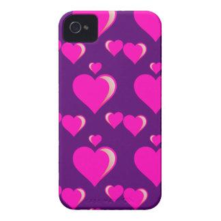 Amor do dia dos namorados dos corações cor-de-rosa capinhas iPhone 4