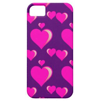 Amor do dia dos namorados dos corações cor-de-rosa capas iPhone 5