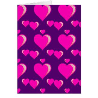 Amor do dia dos namorados dos corações cor-de-rosa cartão comemorativo