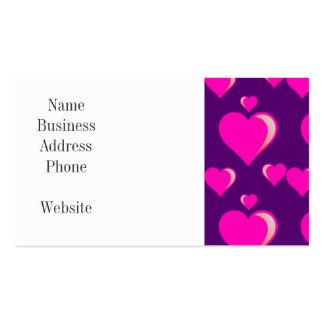 Amor do dia dos namorados dos corações cor-de-rosa cartão de visita