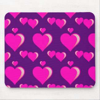Amor do dia dos namorados dos corações cor-de-rosa mouse pad