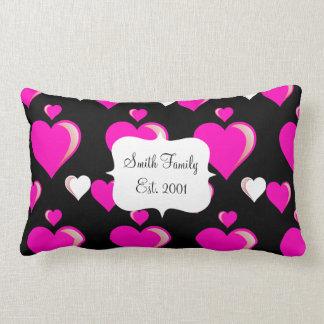 Amor do dia dos namorados dos corações do rosa que travesseiro de decoração