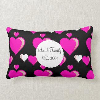 Amor do dia dos namorados dos corações do rosa que travesseiros de decoração