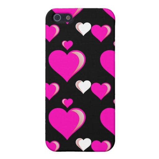 Amor do dia dos namorados dos corações do rosa que iPhone 5 capa