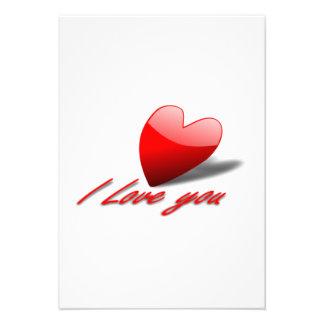 Amor do dia dos namorados você coração convite personalizado