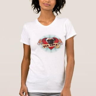 Amor do Pug Camiseta