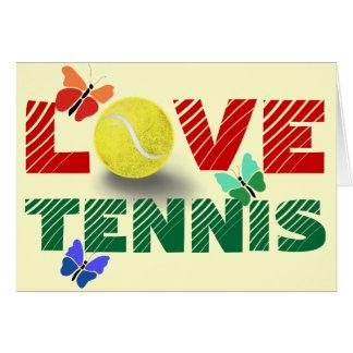 Amor do tênis, dia dos namorados cartão