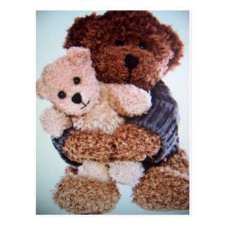 amor do urso de ursinho cartão postal