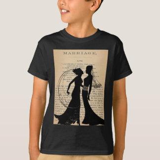 Amor do vintage & casamento Longfellow Wedding Camiseta