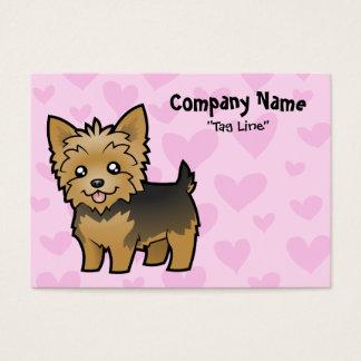 Amor do yorkshire terrier (cabelo curto nenhum cartão de visitas