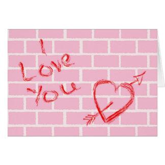 Amor dos grafites cartão comemorativo