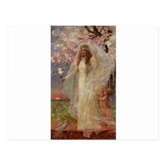 Amor e casamento por Alfred Stevens Cartão Postal