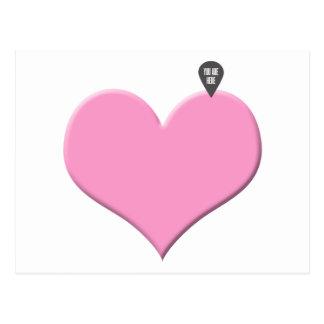 Amor e dia dos namorados do coração cartão postal