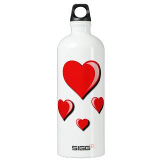 Amor e dia dos namorados vermelhos dos corações