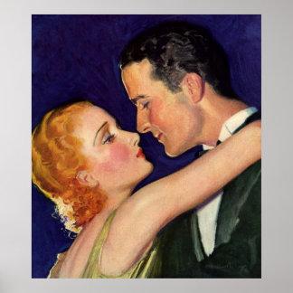 Amor e romance do vintage, filmes retros de poster