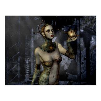 Amor gótico do futuro das meninas cartao postal