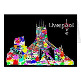 Amor Liverpool - cartão católico da catedral